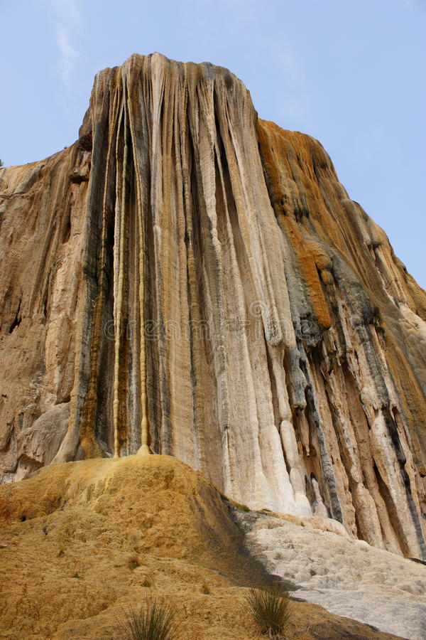 Verstijfde van angst agua van waterval hierve Gr royalty-vrije stock fotografie