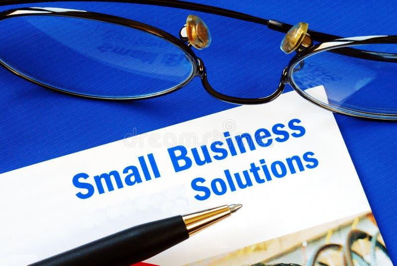 Verstrek financiële oplossingen aan Kleine Onderneming royalty-vrije stock foto