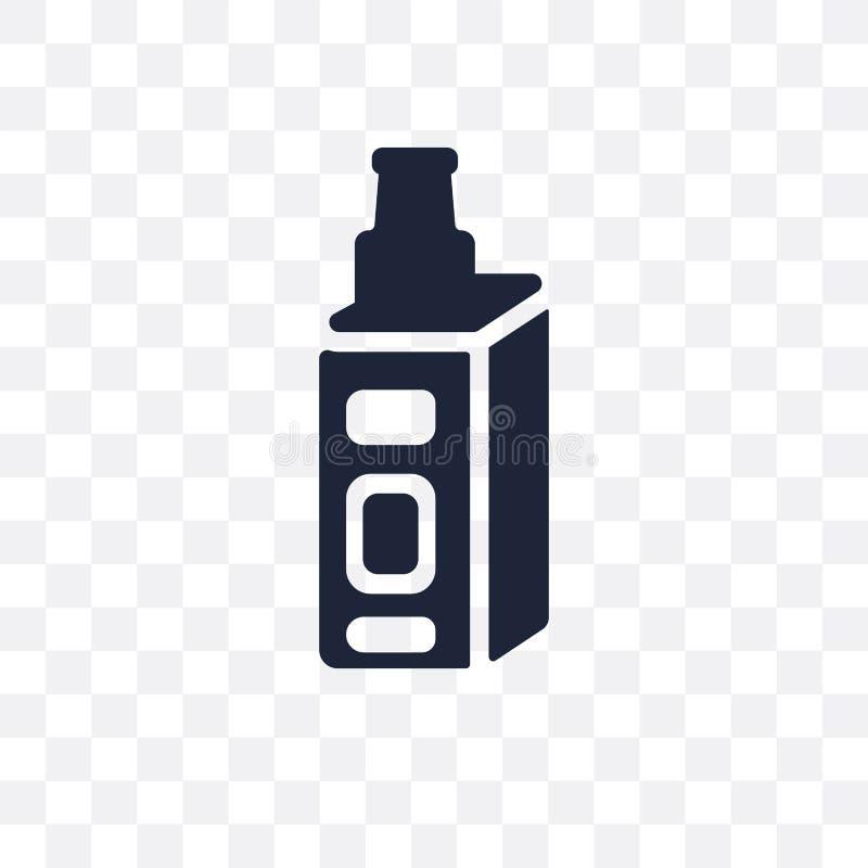 verstuiver transparant pictogram het ontwerp van het verstuiversymbool van Electro royalty-vrije illustratie
