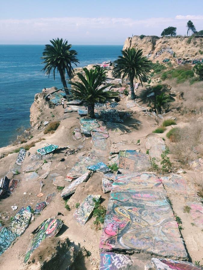 Versunkene Stadt in Kalifornien lizenzfreies stockfoto