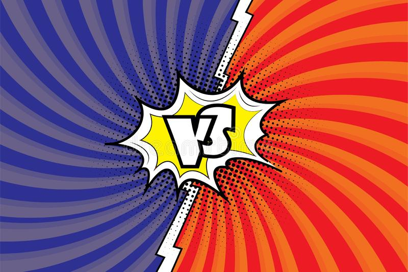 versus   ilustracja wektor