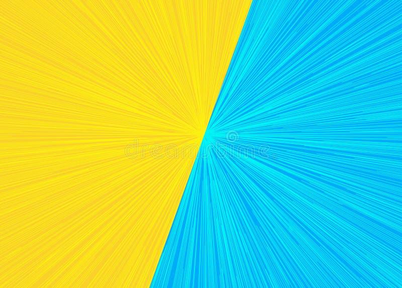 Versus błyskawicowego tła żółty cyan kolor ilustracji