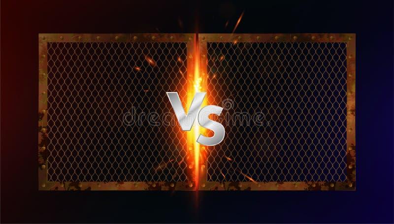 Versus battle concept royalty free illustration