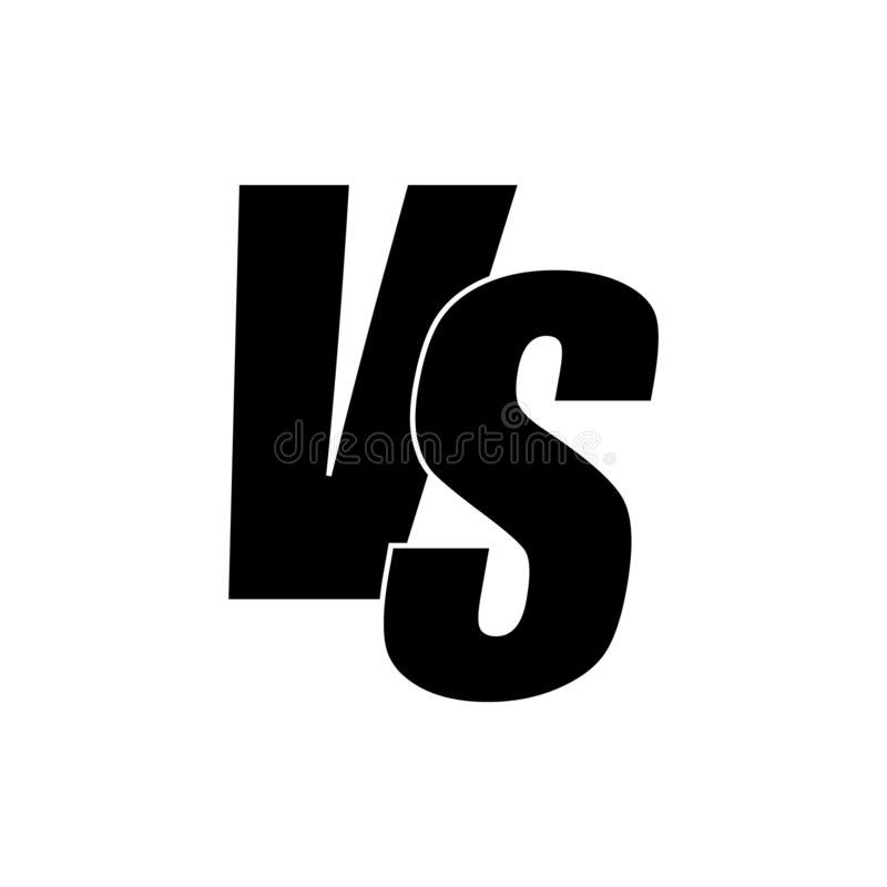 Versus ikona ilustracja wektor
