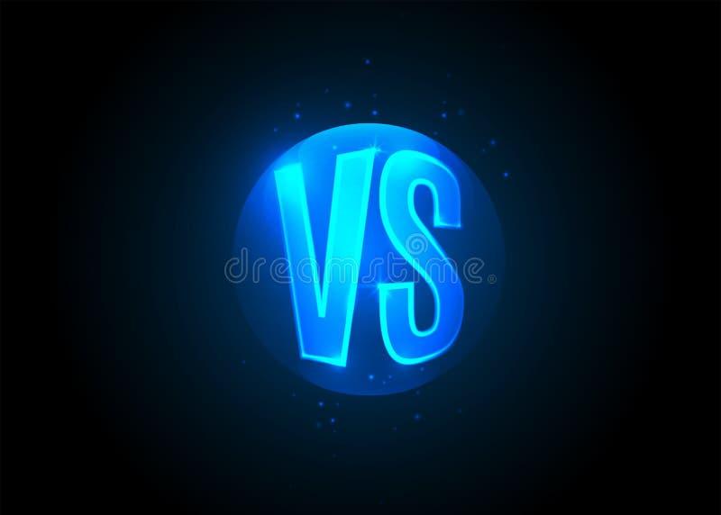 Versus ikona VS listy jest w round okrąg ilustracji