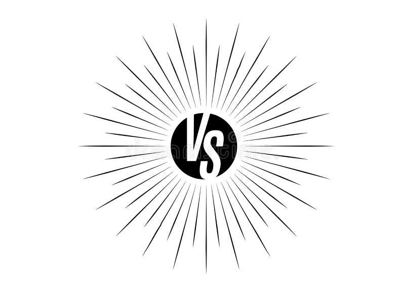 Versus ikona VS listy jest w round okręgu kształt ilustracji