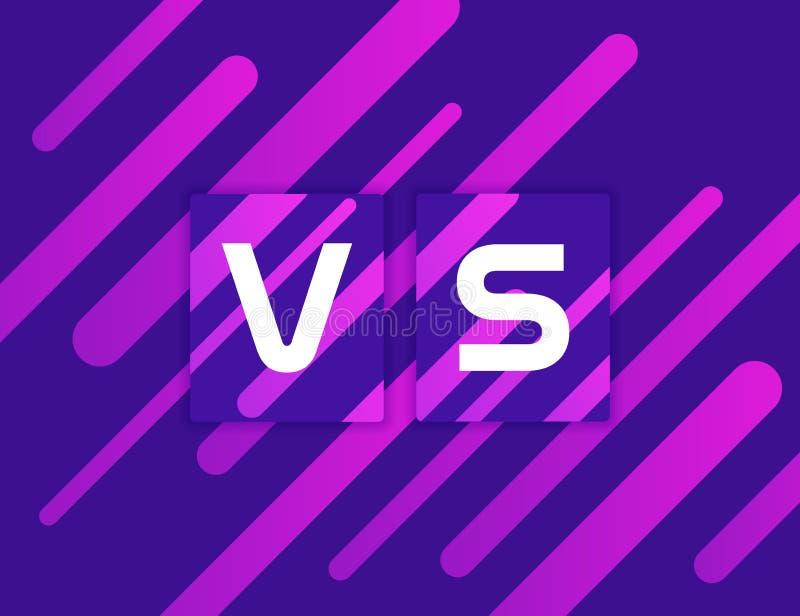 Versus Kolorowy geometryczny tło VS na Dynamiczny kształta skład ilustracyjny nowożytny wektor ilustracji