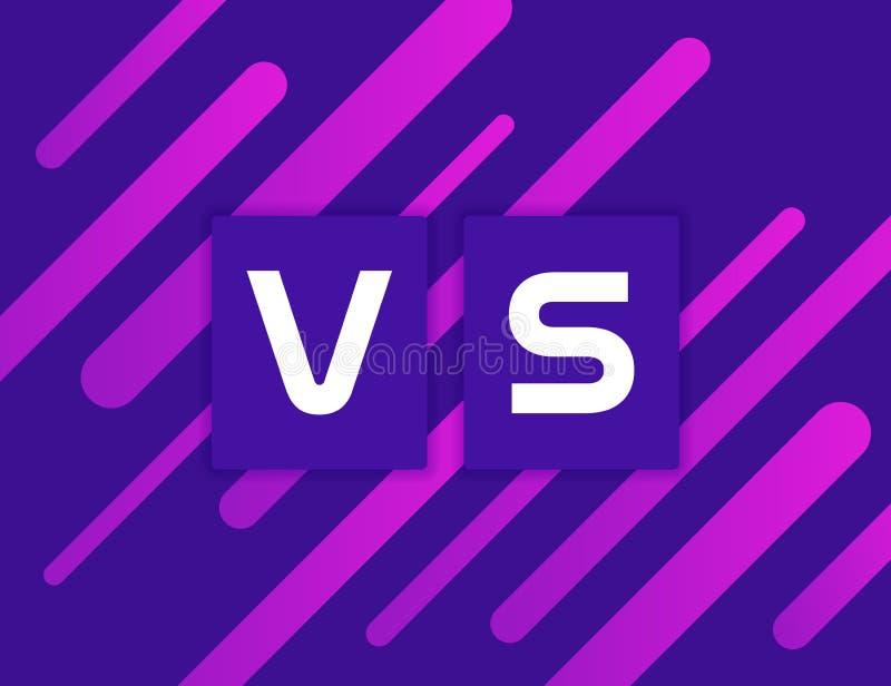 Versus Kolorowy geometryczny tło VS na Dynamiczny kształta skład ilustracyjny nowożytny wektor royalty ilustracja