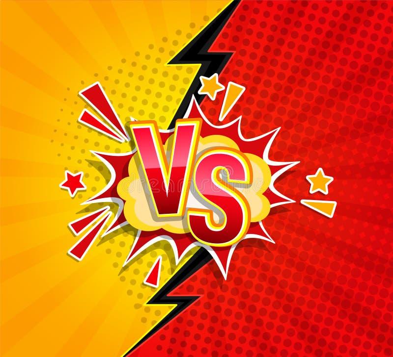 Versus konkurencyjny poj?cie w komiczka stylu royalty ilustracja