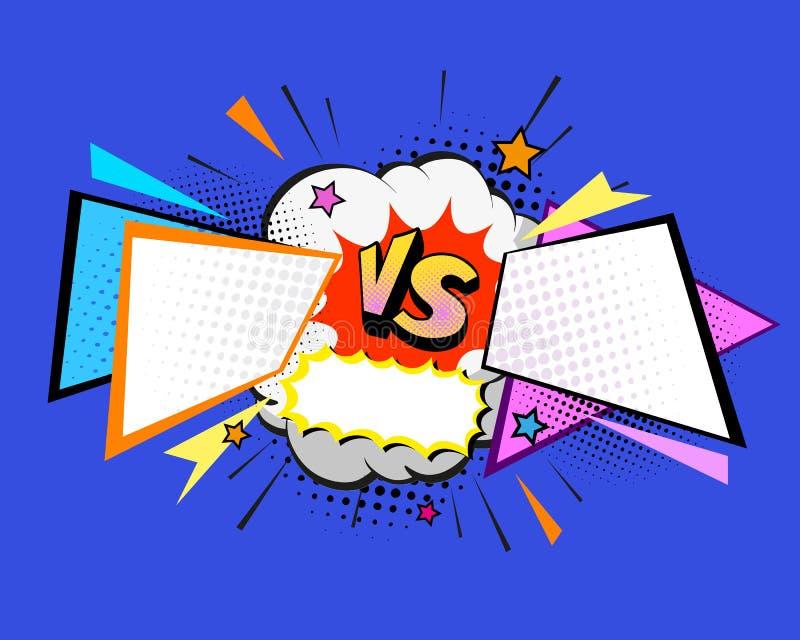 Versus letters fight backgrounds comics style design. Vector illustration. Versus letters fight backgrounds comics book style design. Vector illustration stock illustration