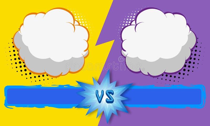 Versus letters fight backgrounds comics style design. Vector illustration. Versus letters fight backgrounds comics book style design. Vector illustration vector illustration