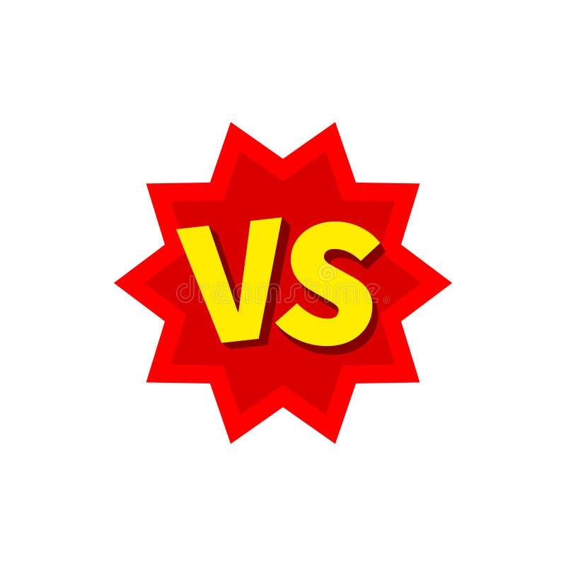 Versus list walka VS Versus teksta muśnięcia obrazu listy również zwrócić corel ilustracji wektora ilustracji