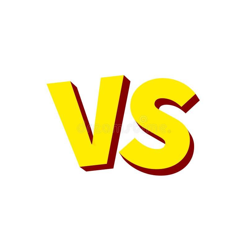 Versus list walka VS Versus teksta muśnięcia obrazu listy również zwrócić corel ilustracji wektora ilustracja wektor