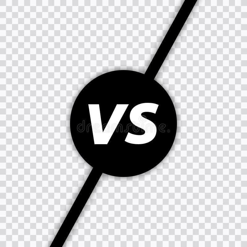 Versus list walka VS Versus teksta mu?ni?cia obrazu listy VS przejrzysty tło w r?wnie? zwr?ci? corel ilustracji wektora royalty ilustracja