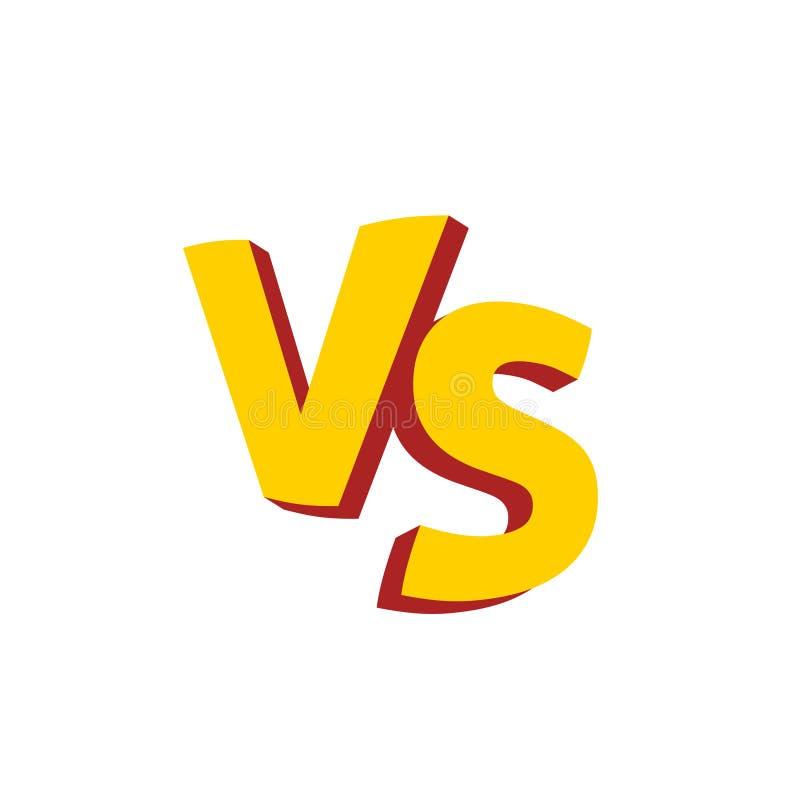 Versus listy lub vs loga wektoru emblemat ilustracji