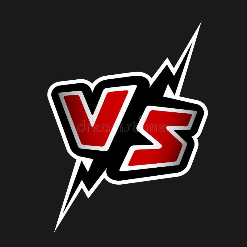Versus listy VS logo royalty ilustracja