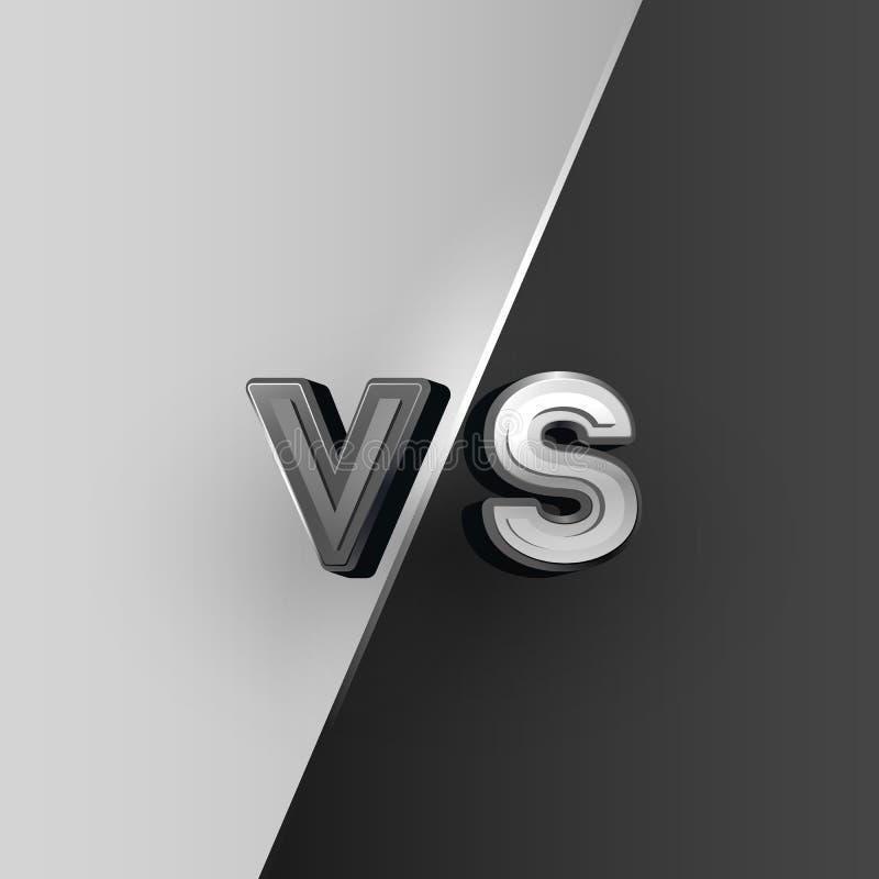 Versus logo, czarny i biały VS listy r?wnie? zwr?ci? corel ilustracji wektora royalty ilustracja