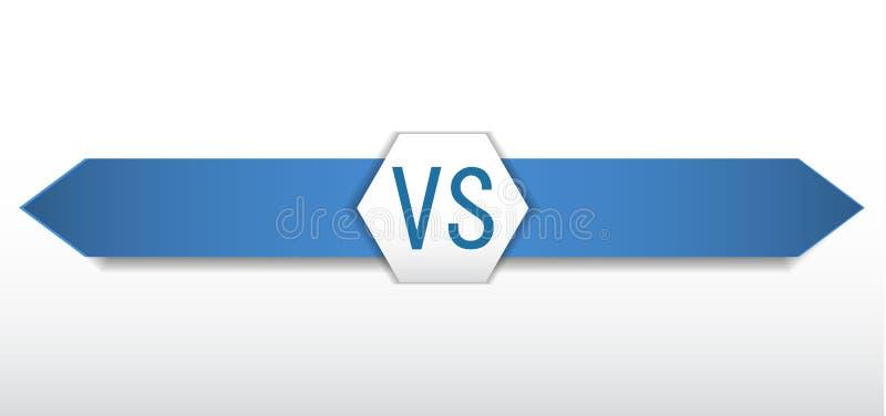 Versus logo VS wektor ilustracja wektor