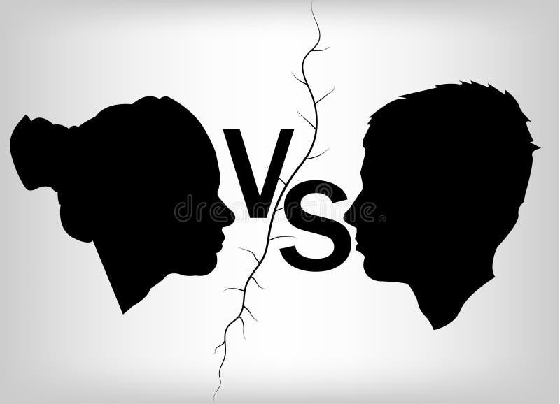 Versus logo VS wektor ilustracji