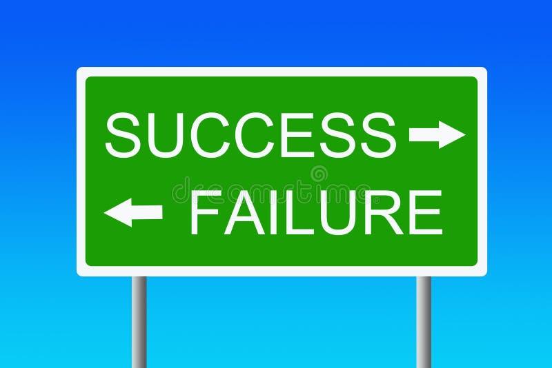 versus niepowodzenie sukces ilustracja wektor