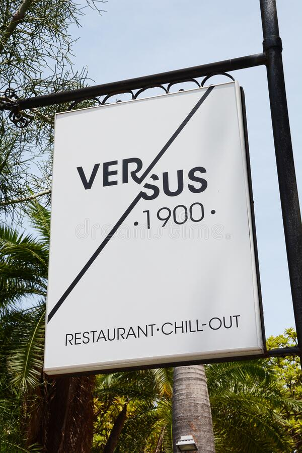 Versus 1900 Restaurant Sign royalty free stock photography