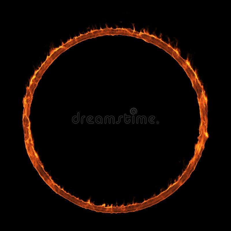 Versus Screen. Burning frame on a black background. royalty free illustration