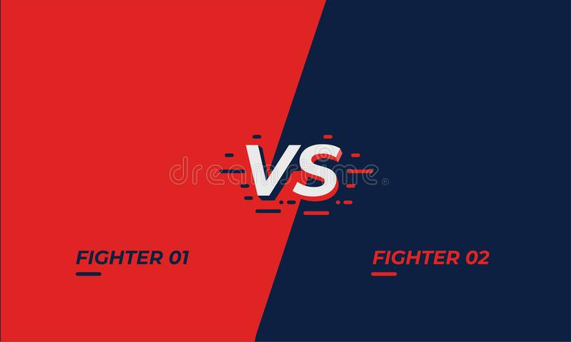 download versus screen design battle headline template fllat modern design vector illustration stock