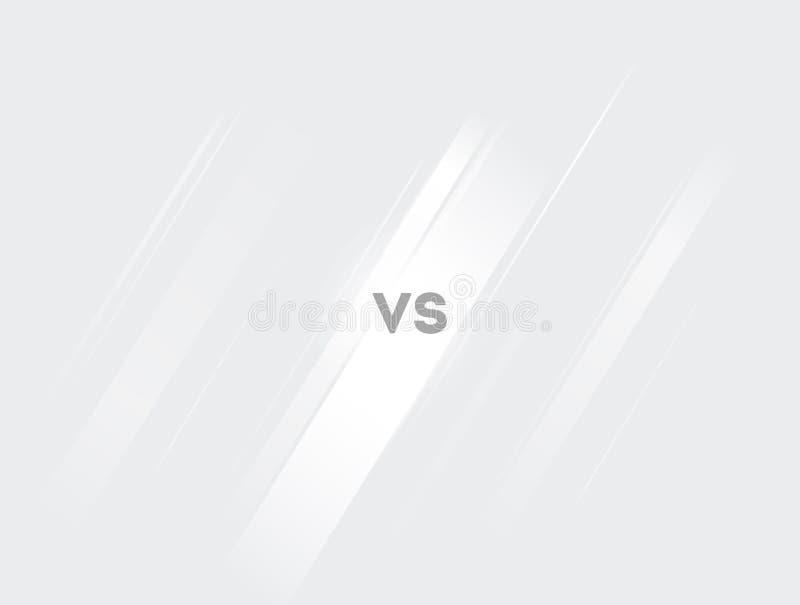 Versus Screen White und Light Vs Fight Hintergrund für Schlacht, Wettbewerb und Spiel Vector Illustration versus Screen lizenzfreie abbildung