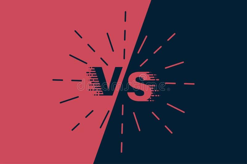 Versus stylowa ilustracja VS symbol Batalistyczny nagłówka szablon Płaski nowożytny projekt również zwrócić corel ilustracji wekt ilustracji