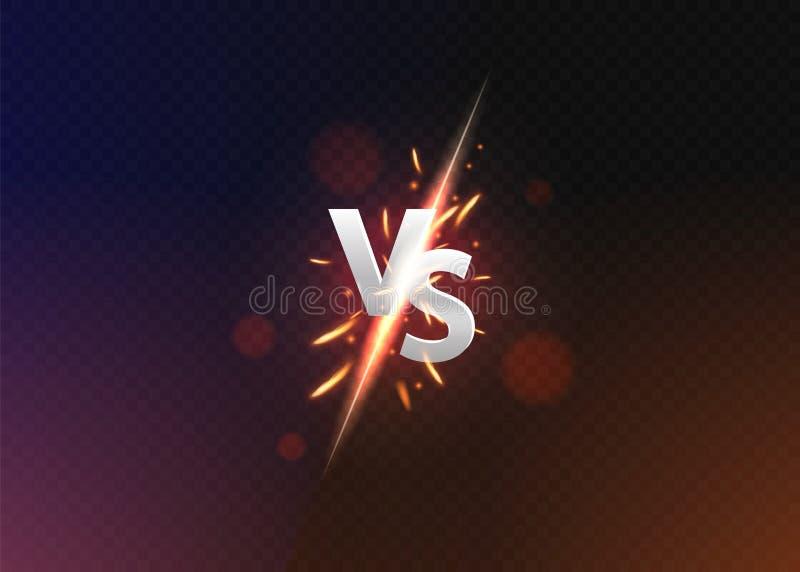 Versus tło vs Versus logo vs listy dla sport?w i walki rywalizacji r?wnie? zwr?ci? corel ilustracji wektora ilustracji
