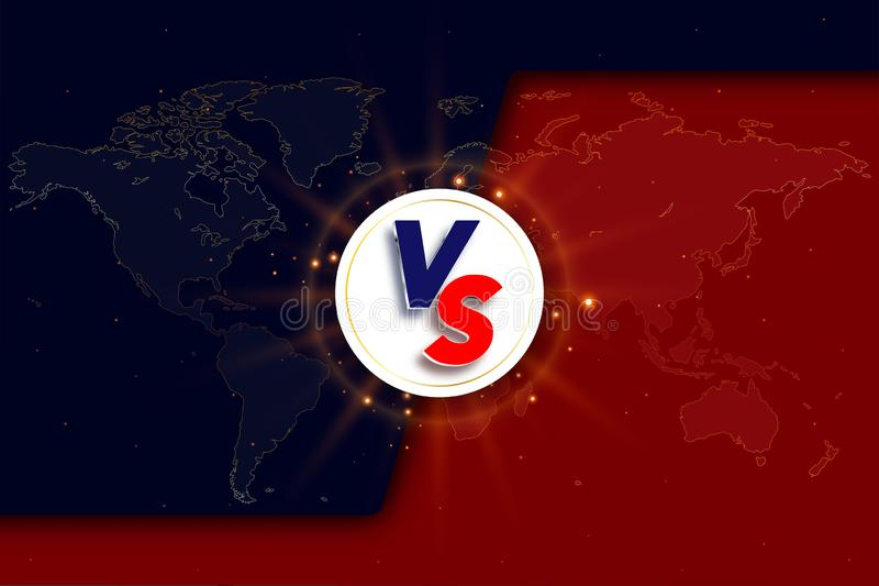 Versus VS background. Versus logo vs letters for sports and fight competition royalty free stock image