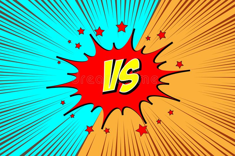 Versus. vs. Fight backgrounds royalty free stock photo