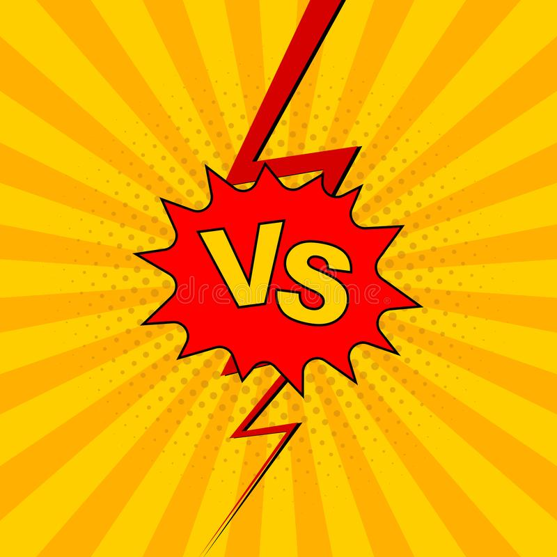 Versus VS lettering fight background royalty free illustration