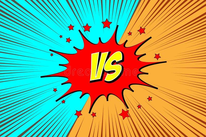versus VS Walk tła royalty ilustracja