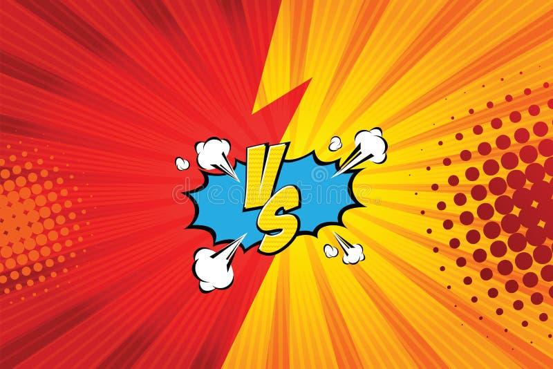 versus VS Walk tło komiczek stylu projekt również zwrócić corel ilustracji wektora ilustracji