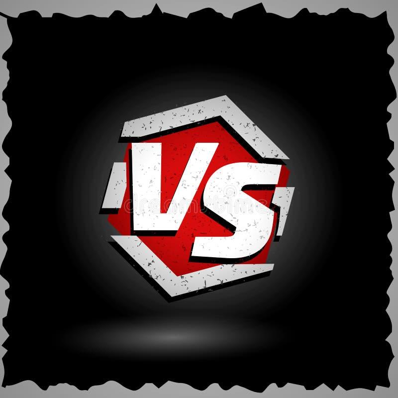 Versus wektoru znak VS listy Turniejowy pojęcia tło Walki konfrontaci projekt royalty ilustracja