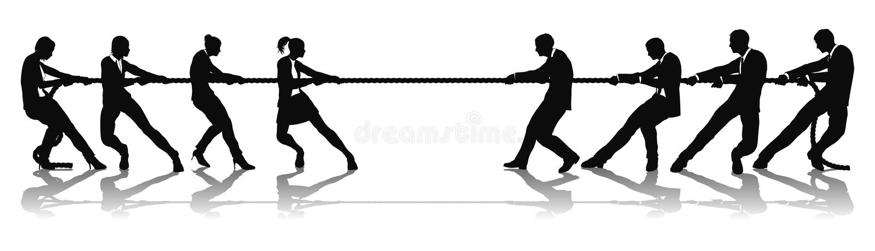 versus wojenne kobiety mężczyzna biznesowy turniejowy holownik ilustracja wektor