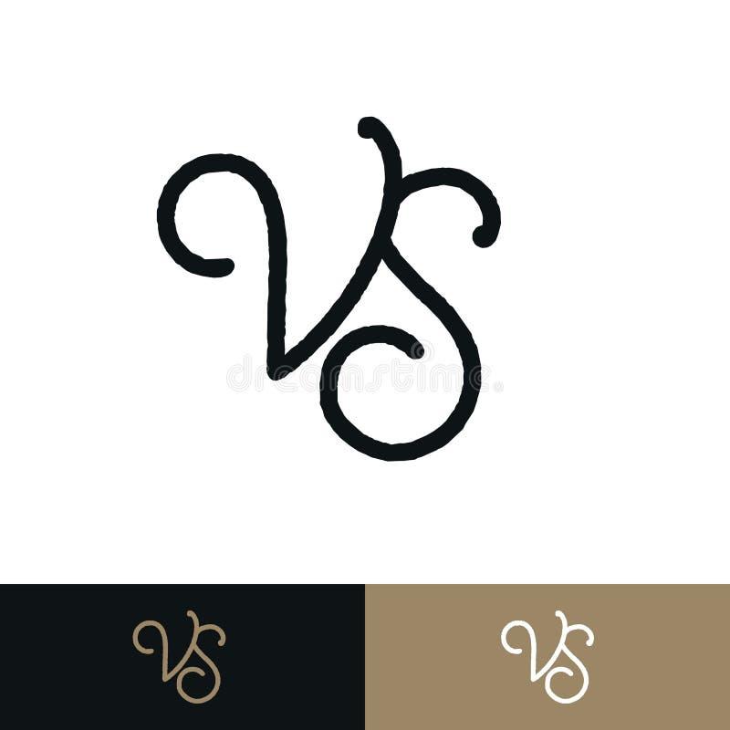 Versus znaka mieszkania ustalony styl odizolowywający na tle dla bitwy royalty ilustracja
