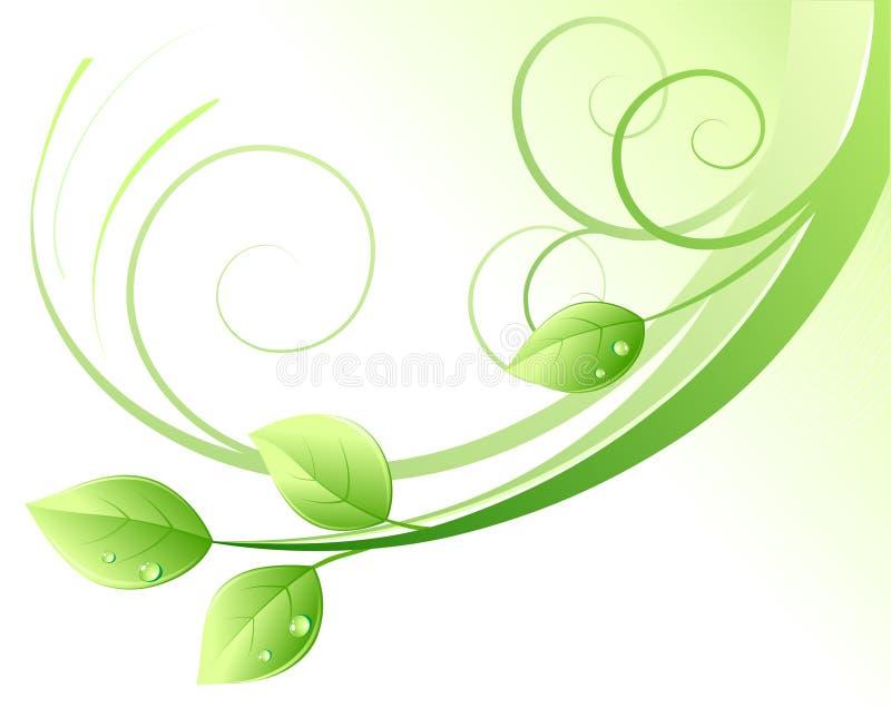 vert abstrait de fond illustration de vecteur