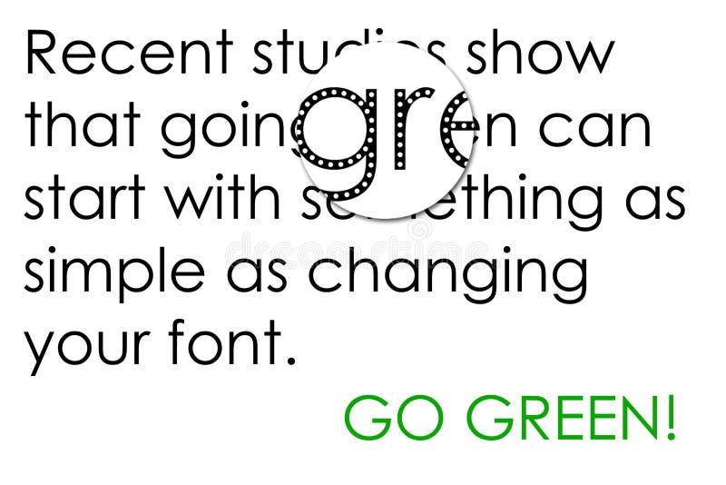 Vert allant avec des fontes illustration de vecteur