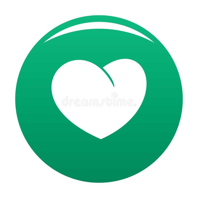 Vert angélique de vecteur d'icône de coeur illustration stock