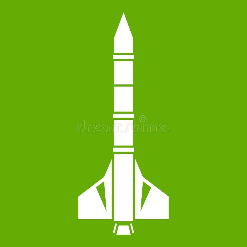 Vert atomique d'icône de fusée illustration stock
