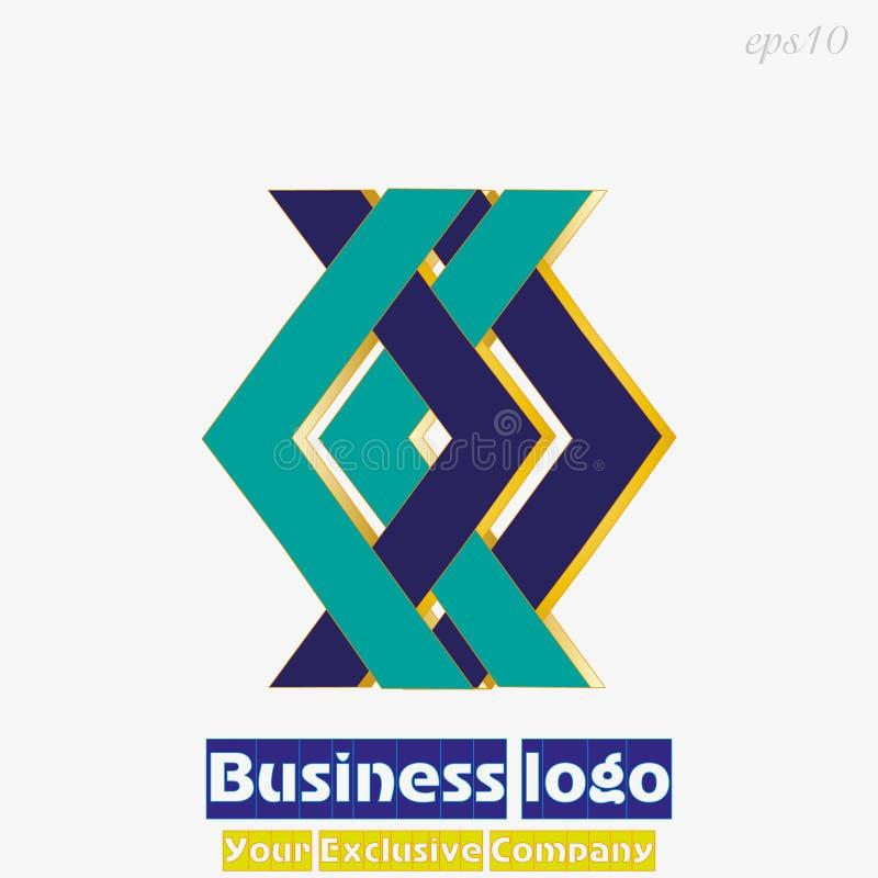 Vert bleu géométrique de logo illustration libre de droits