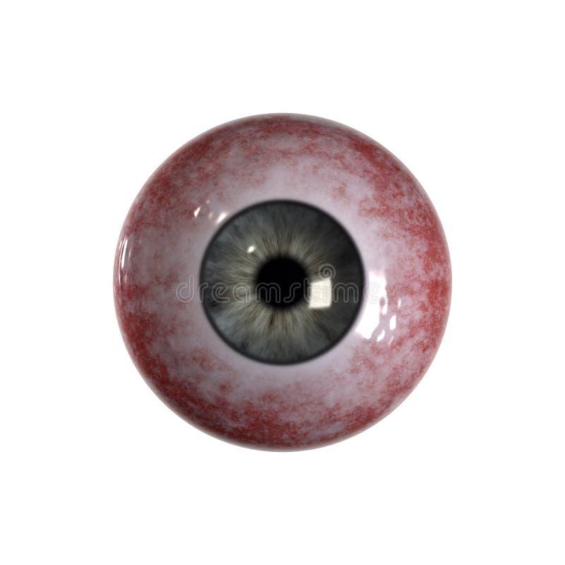 vert bleu injecté de sang de globe oculaire photo stock