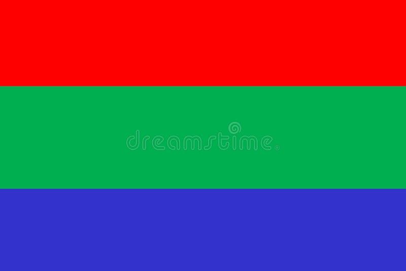 Vert-bleu rouge images stock