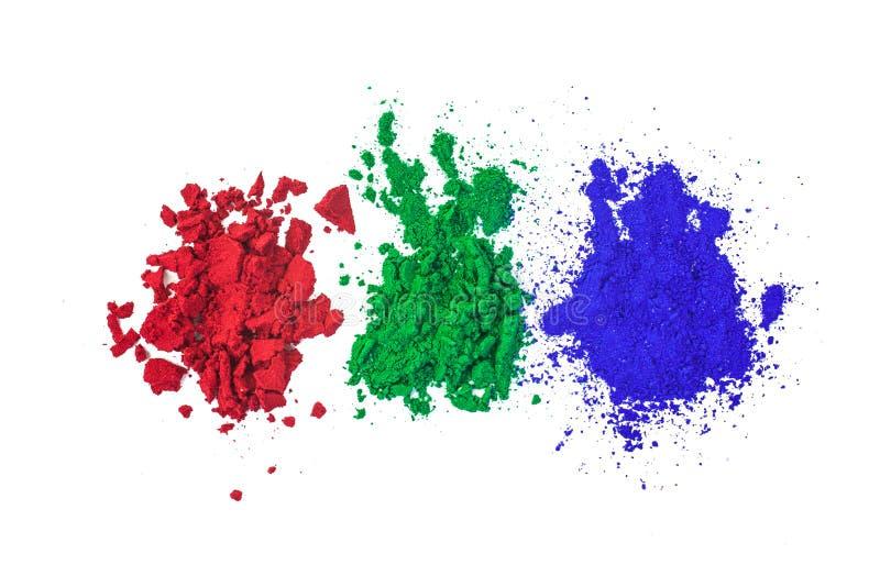 Vert-bleu rouge illustration de vecteur