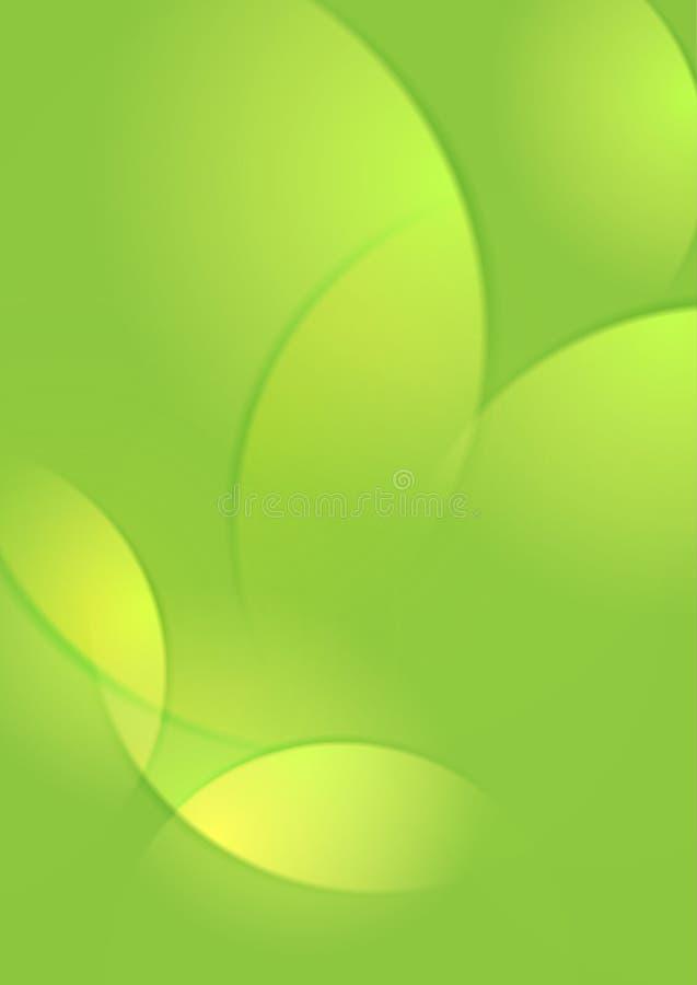 Vert clair abstraits lissent le fond de vagues illustration de vecteur