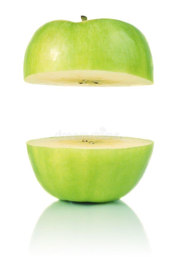 vert coupé par pomme images libres de droits