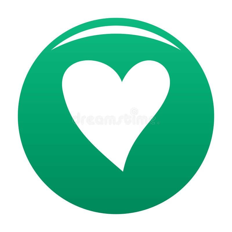 Vert cruel de vecteur d'icône de coeur illustration libre de droits