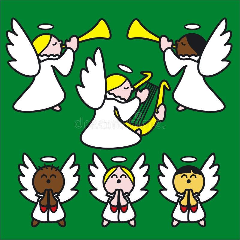Vert d'Angelitos illustration de vecteur